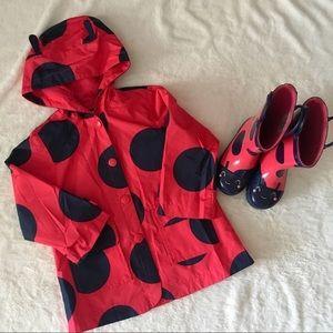 Carter's Toddler Girl's Ladybug Raincoat & Boots